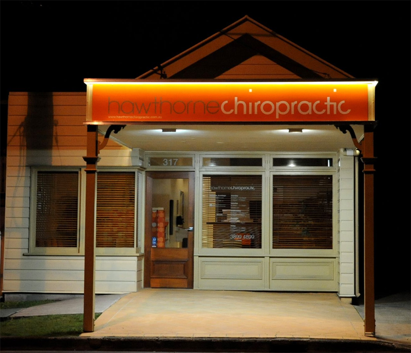 Chiropractor Seven Hills Area - picture of Hawthorne Chiropractic at night
